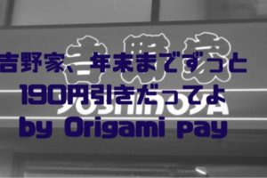 origami pay 吉野家