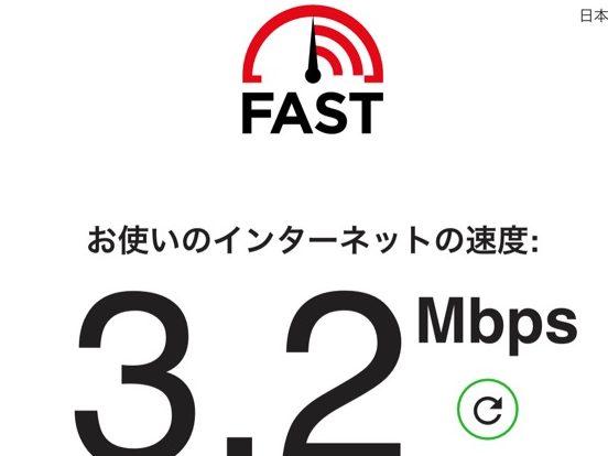 縛りなしWi-Fi速度