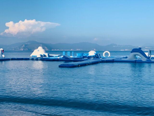 アイランド長崎の海上アスレチック