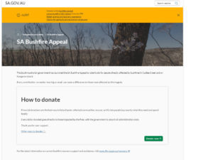 オーストラリア 寄付