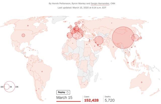 コロナウイルス感染者数