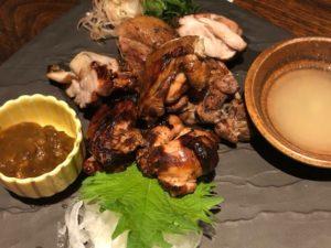 もも肉 にんにく醤油藁焼き(1390円)